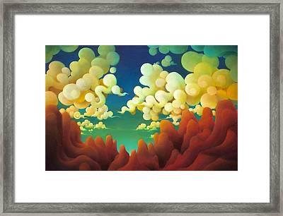 Framed Print featuring the painting  The Sky There Before Us by Richard Dennis