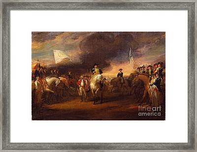 The Surrender Of Lord Cornwallis At Yorktown Framed Print by MotionAge Designs