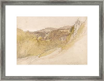 The Valley Of Dolwyddelan Framed Print by Samuel Palmer