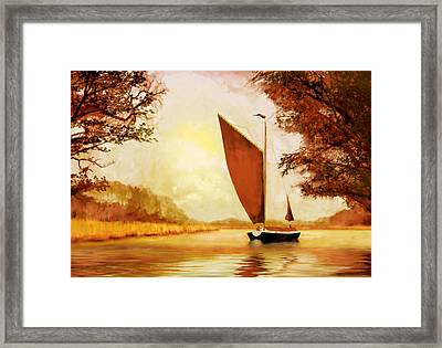 Framed Print featuring the painting  The Wherry Albion by Valerie Anne Kelly
