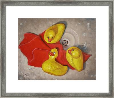 Three Rubber Ducks  #1 Framed Print by Donelli  DiMaria