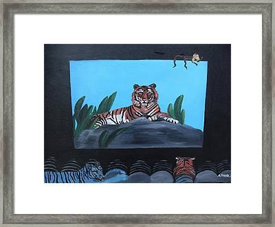 Tiger Show Framed Print