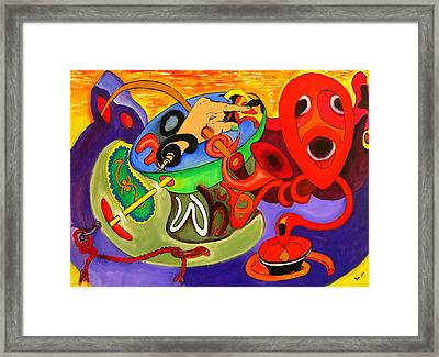 Time Constraints Framed Print by Helmut Rottler