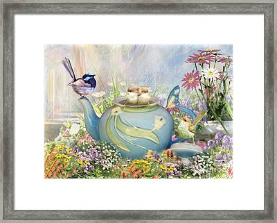 Tiny Tea Party Framed Print