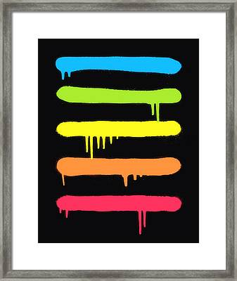 Trendy Cool Graffiti Tag Lines Framed Print by Philipp Rietz