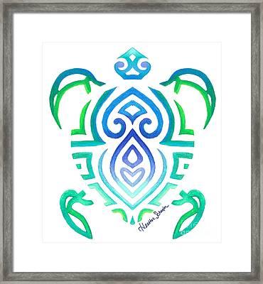 Tribal Turtle Framed Print