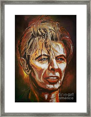 Framed Print featuring the painting  Tribute To David by Andrzej Szczerski