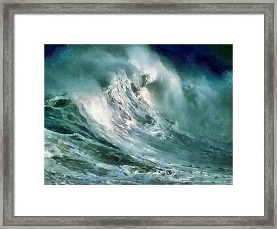 Tsunami - Raging Sea Framed Print by Russ Harris
