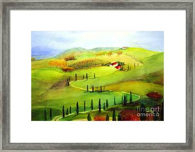 Tuscany Framed Print by Maryann Schigur