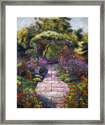 Two Blue Garden Chairs Framed Print