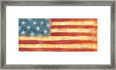 U.s. Flag Vintage Framed Print