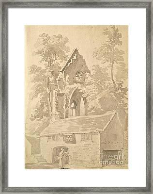 Valle Crucis Abbey Near Llangollen Framed Print
