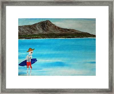 Vamos A La Playa Framed Print