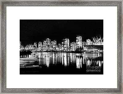 Vancouvers Silver Lining  Framed Print by Dean Edwards