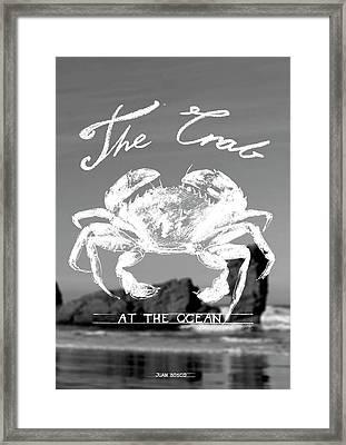 Velvet Crab, Framed Print