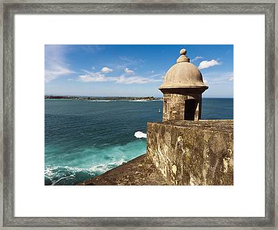 View From El Morro Fort Framed Print by George Oze
