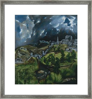View Of Toledo Framed Print