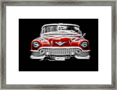 Framed Print featuring the photograph  Vintage Red Cadillac by Aaron Berg