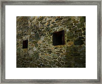 Vintage Stone Wall In Radnor  Pa Framed Print