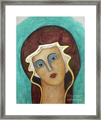 Virgin Mary Framed Print by Vesna Antic