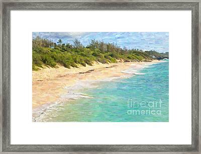 Warwick Long Bay In Bermuda Framed Print