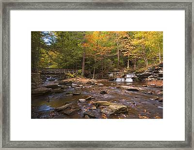 Watching The Waters Meet Framed Print by Gene Walls