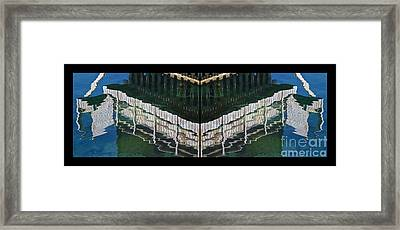 Water Reflection Twofold Framed Print