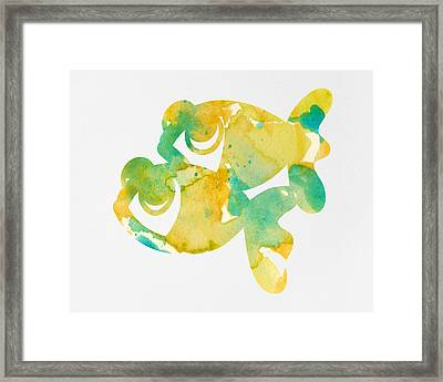 Watercolor Painting For Nurseries - Twins Framed Print by Nursery Art