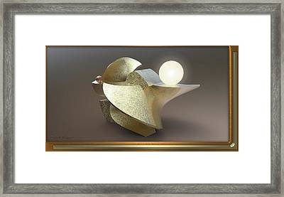 ' Wavy Cut Sculpture Light ' Framed Print