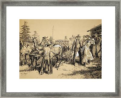 Wedding Party Framed Print by Celestial Images