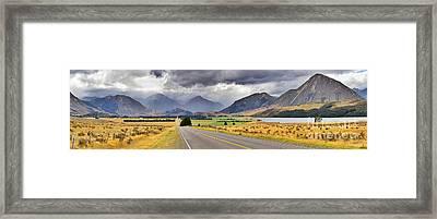 West Coast Road New Zealand Framed Print