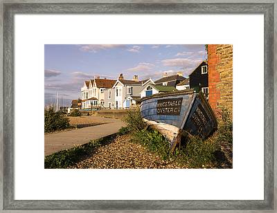 Whitstable Oyster Co Framed Print by Ian Hufton