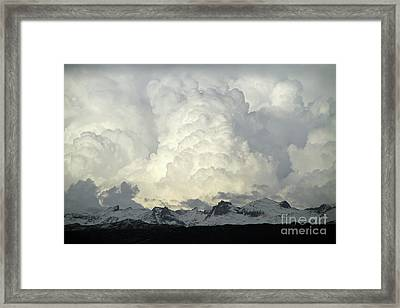 Framed Print featuring the photograph  Windriver Storm by Edward R Wisell