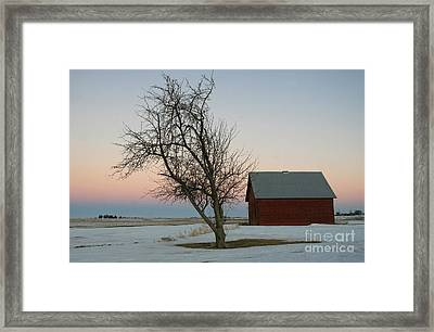 Winter In Rural America Framed Print