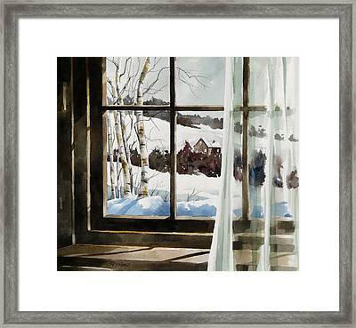 Winter Window Framed Print by Art Scholz