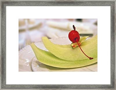 ... With A Cherry On Top Framed Print by Evelina Kremsdorf