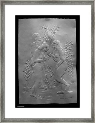 Women Bathers Framed Print by Suhas Tavkar
