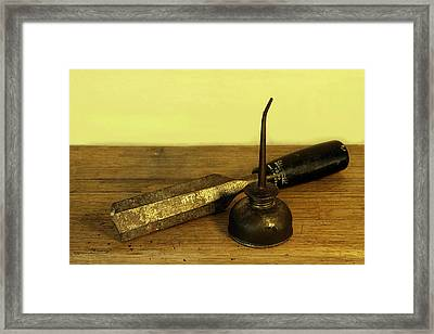 Framed Print featuring the photograph  Wood Chisel No.40. by Viktor Savchenko