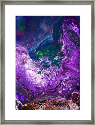Zeus - Abstract Colorful Mixed Media Painting Framed Print by Modern Art Prints