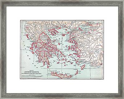 Map: Ancient Greece Framed Print by Granger