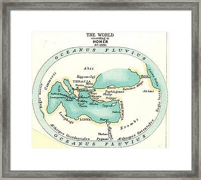 World Map, C1000 B.c Framed Print by Granger