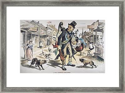 Prohibition  Cartoon, 1889 Framed Print by Granger