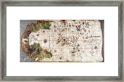 Nina: World Map, 1500 Framed Print by Granger