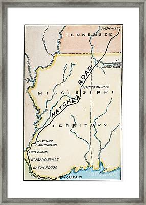 Natchez Trace, 1816 Framed Print by Granger