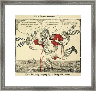 War Of 1812: Cartoon, 1813 Framed Print