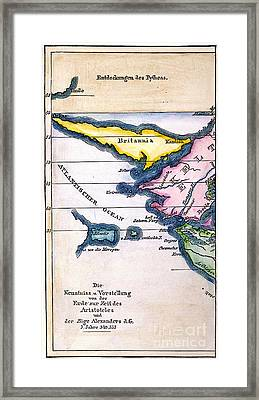 Atlantis: Map, 1831 Framed Print by Granger