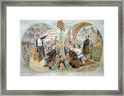 Business Cartoon, 1904 Framed Print by Granger