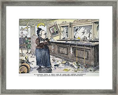 Carry Nation Cartoon, 1901 Framed Print by Granger
