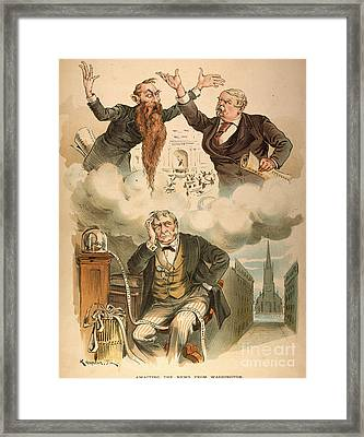 Cartoon: Panic Of 1893 Framed Print