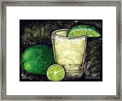 Tequila With Salt And Lime Framed Print by Brian Bingham
